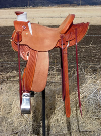 Stamped Saddles with Half Double Sirrup Leathers : Image 2