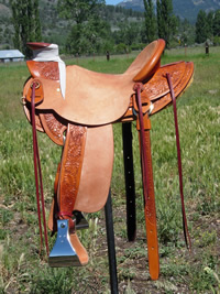 Stamped Saddles with Half Double Sirrup Leathers : Image 3