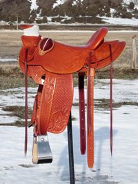 Stamped Saddles with Half Double Sirrup Leathers : Image 5