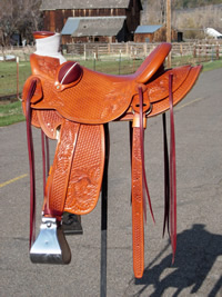 Stamped Saddles with Half Double Sirrup Leathers : Image 6