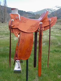 Stamped Saddles with Half Double Sirrup Leathers : Image 10