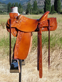 Stamped Saddles with Half Double Sirrup Leathers : Image 9