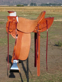 Stamped Saddles with Four Button Seat : Image 1