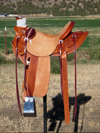 Stamped Saddles with Four Button Seat : Image 3
